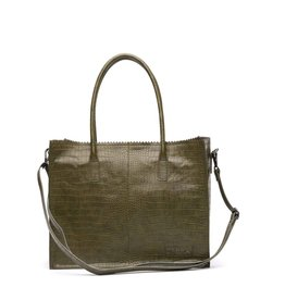 Zebra Natural bag Croco LISA - Army