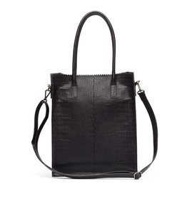 Zebra Natural bag Croco ROSA - Black