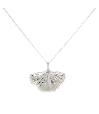 Anna + Nina Anna + Nina 021725SP0000 nr 24 Ginko Necklace Brass Silverplated