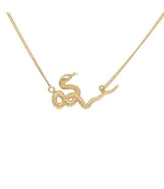 Anna + Nina Anna+Nina, 021761GP0000, Snake Necklace Goldplated