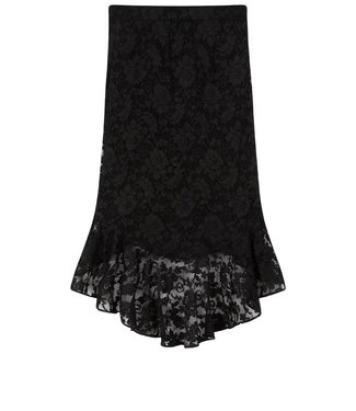 Alix Alix, knitted lace fake wrap skirt, Black
