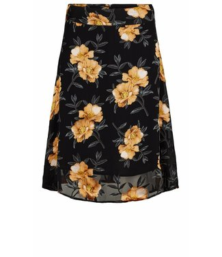 Just Female Just Female, Antonia Skirt 11040, Orange Flower Black