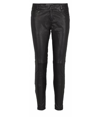Just Female Just Female Rosa Leather Pants, Black