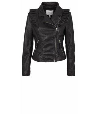 Just Female Just Female Rosa Leather Jacket, Black