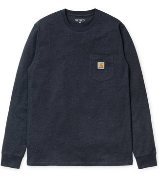 Carhartt Carhartt L/S Pocket T-shirt 100% Cotton Single Jersey, 175 g/m2 Dark Navy Heather