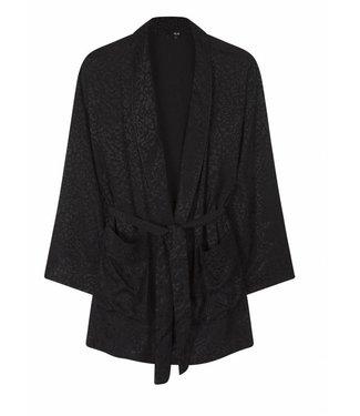 Alix Alix, Woven, Jacquard, Kimono, Black