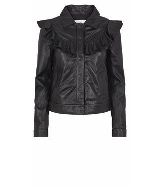 Just Female Just Female, Sofia Leather Jacket, Black