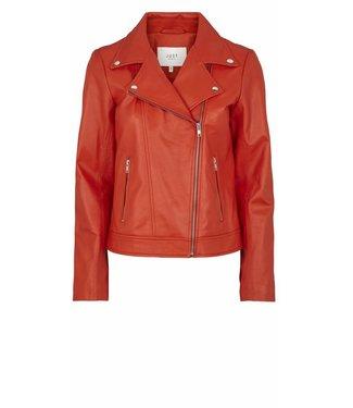 Just Female Just Female, Martha Leather Jacket, Red/Oranje