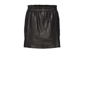 Norr Norr, Isa, Leather, Skirt, Black