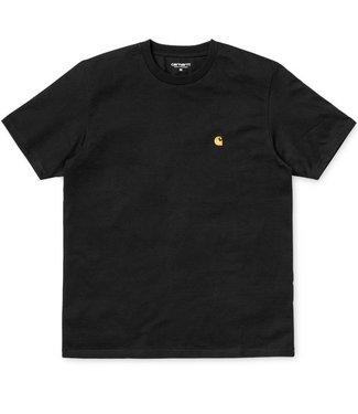 Carhartt Carhartt, S/S Chase T-shirt, Black/Gold
