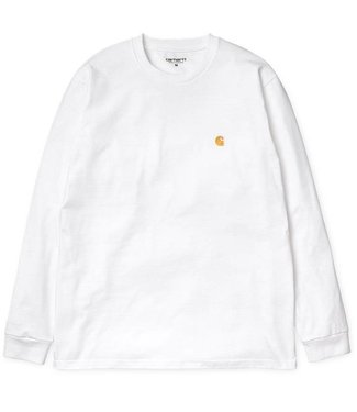 Carhartt Carhartt, L/S Chase T-Shirt, White/Gold