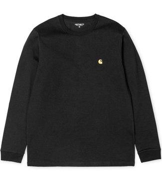 Carhartt Carhartt L/S Chase shirt black/gold