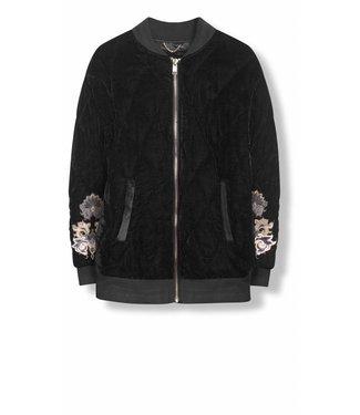 Alix Alix Padded Velvet Coat  Black