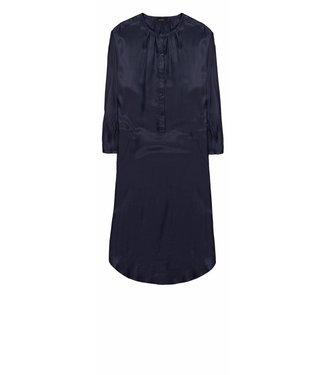 10 Feet 10 Feet, Constructed Dress With Half Placket and Pockets, Night Blue