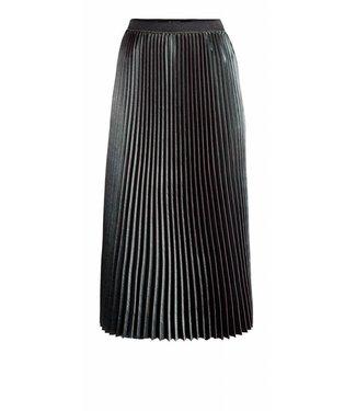 10 Feet 10 Feet, Fancy Plissé Skirt With Printed & Elastic Waist, Peacook