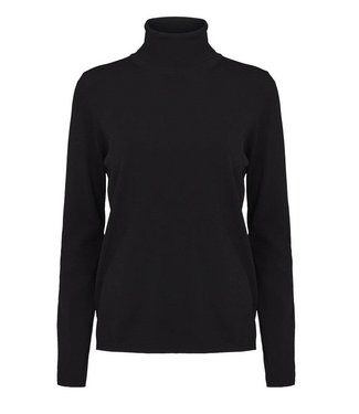 Second Female Second Female, Lin Knit T-Neck, Black