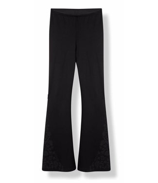Alix Alix Knitted Flared Pants 185120739 Black