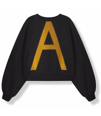 Alix Alix Knitted Cropped Sweater Black