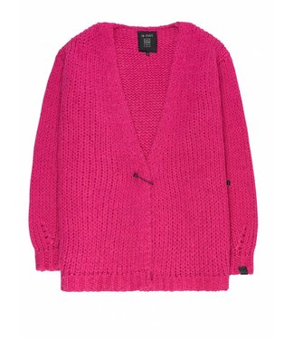 10 Feet 10 Feet, Bulky Cardigan, Shocking Pink