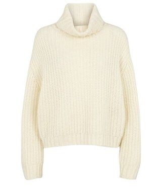 Second Female Second Female Moma Knit T-Neck Off White