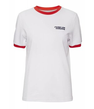 Norr Norr Star Tee Shirt White Red