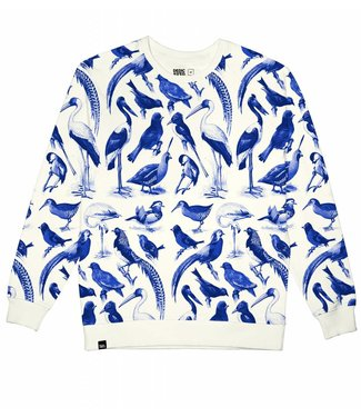 Dedicated Dedicated Sweatshirt Malmoe Blue Birds Off-White