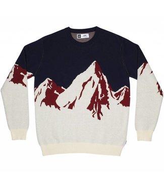 Dedicated Dedicated Sweatshirt Mora Enamel Mountains Off-White