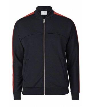 Les Deux Les Deux Hermite Track Jacket Black/Brick Red