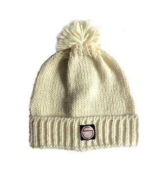 Orange Stripe Winter Hat Creme