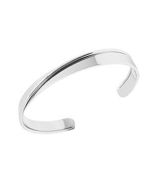 Bandhu Bandhu Curved Bracelet Silver