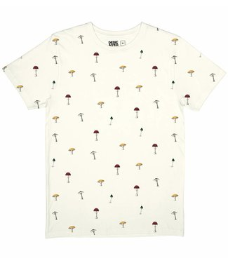 Dedicated Dedecated T-shirt Stockholm Mushrooms Off-White