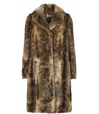 Just Female Just Female Enzo Fake Fur Coat Nature Fox