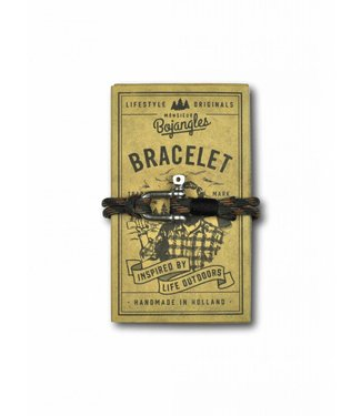 Monsieur Bojangles Monsieur Bojangles, Sailor Bracelet Paraoord Woodland-Black