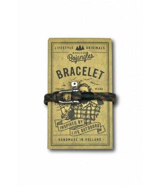 Monsieur Bojangles Monsieur Bojangles, Sailor Bracelet Paraoord Woodland-Green