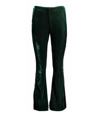 Oscar & Jane Oscar & Jane Velvet Flared Pant Dark Green