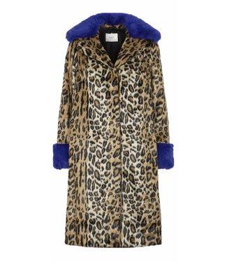 Just Female Just Female Jackie Fake Fur Coat Leo Mix