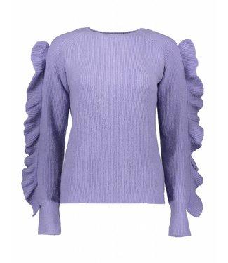 Oscar & Jane Oscar & Jane OJ-W18-08 Ruffled Sweater Lavender