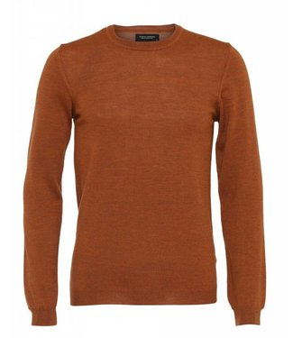 Clean Cut Copenhagen Clean Cut Copenhagen Wool Crew Plain Rust Melange