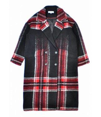 Teoh & Lea Teoh & Lea Long Coat 22500 Black/Red