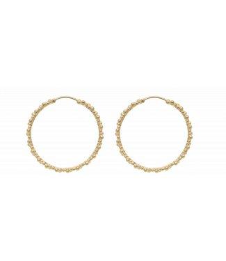 Anna + Nina Anna + Nina 18-2M902015BGP Cluster Hoop Earring Brass Goldplated