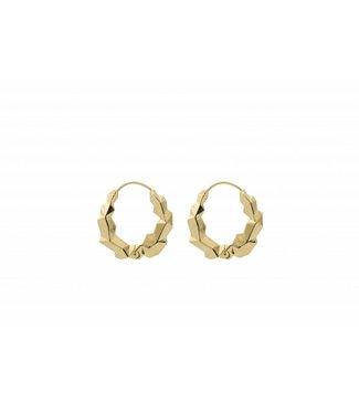 Anna + Nina Anna+Nina 18-2M902023GP Cryptonite Earring Silver Goldplated