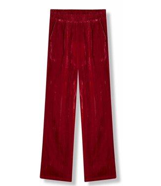 Alix Alix Crinkled Velvet Pants Red
