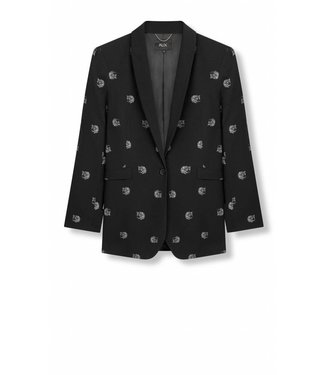 Alix Alix Dot Leopard Blazer Black