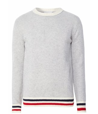 Les Deux Les Deux French Lambswool Jumper Light Grey