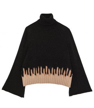 Ottod'ame Ottod'ame DM7115 Maglia Shirt Black
