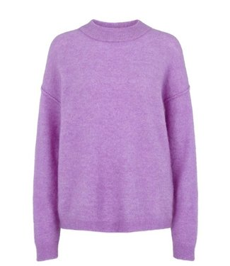Second Female Second Female Brook Knit Loose O-Neck English Lavender