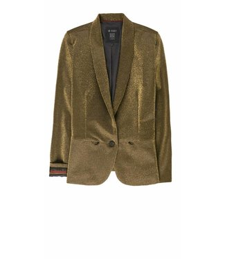 10 Feet 10 Feet Comfy tailored Glitter Blazer Gold