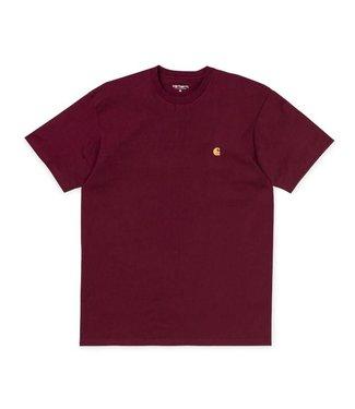 Carhartt Carhart S/S  T-Shirt Cranberry/Gold