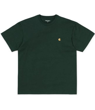 Carhartt Carhartt S/S Chase T-Shirt Bottle Green / Gold