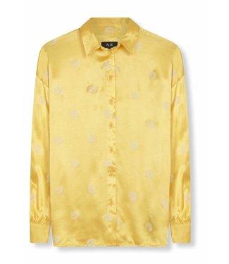 Alix Alix Ladies Woven Leopard Shine Blouse Soft Yellow
